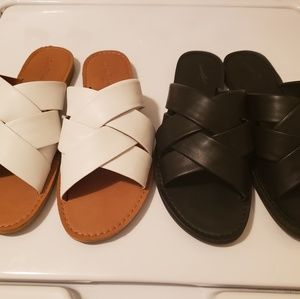 Two Pairs of Slide Sandals
